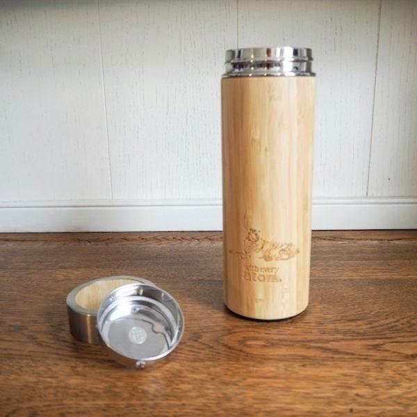 Bamboo and stainless steel mug
