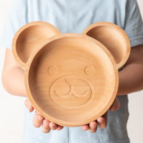 Bear shaped plate