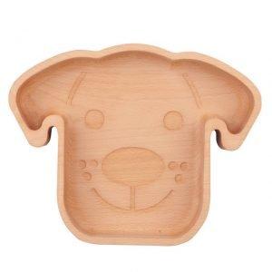 Wooden dog bowl