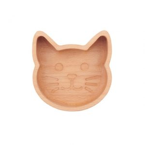 Wooden cat bowl