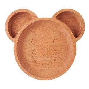Wooden bear plate