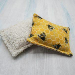 Yellow bee reusable sponge