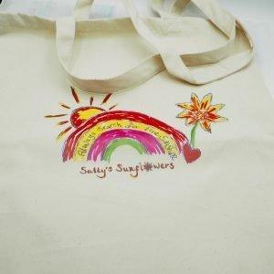 Rainbow canvas tote bag
