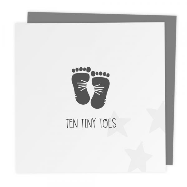 Ten tiny toes baby card