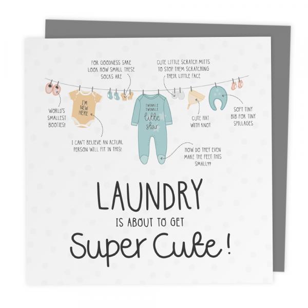 Laundry baby card